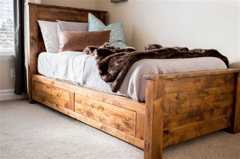 do it yourself bed frame do it yourself divas diy twin storage bedframe