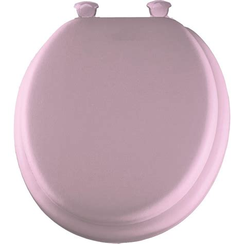 pink toilet seat bemis soft closed front toilet seat in pink 13ec 023