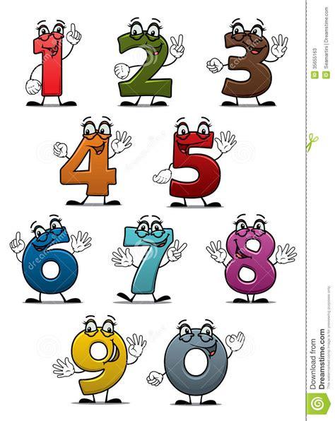 numeri in cifre o lettere numeri e cifre divertenti fumetto fotografie stock