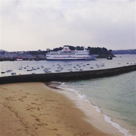 ferry plymouth to st malo the mv bretagne in st malo port picture of