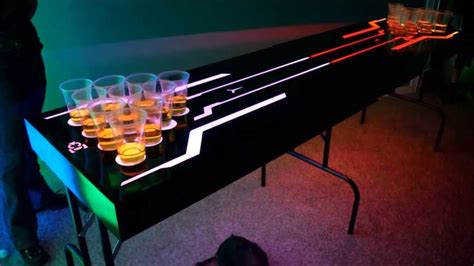 making a beer pong table led lighted beer pong table youtube