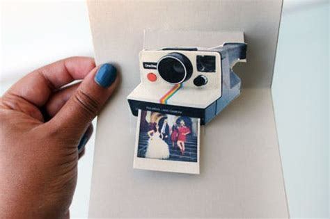 polaroid pop up birthday card with printable template pop goes the diy pop up name card brit co