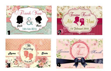 Kartu Ucapan Terimakasih Ulang Tahunthank You Card 01 harga kartu ucapan terima kasih flower 2 thank you card thanks card id priceaz