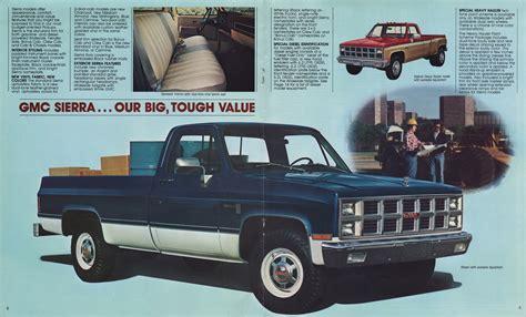 gmc sales 1982 gmc sales brochure