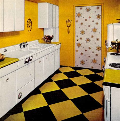 Yellow Retro Kitchens On Pinterest Yellow Kitchens 1950 Kitchen Design