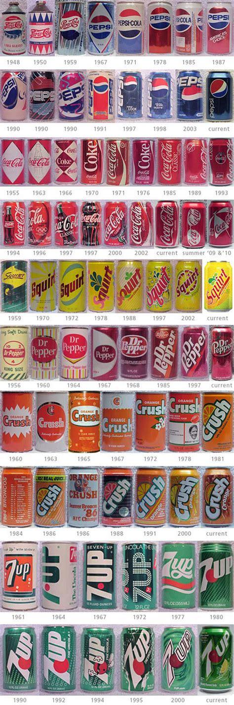 pop origin soft drink evolution their can designs since the 1950s