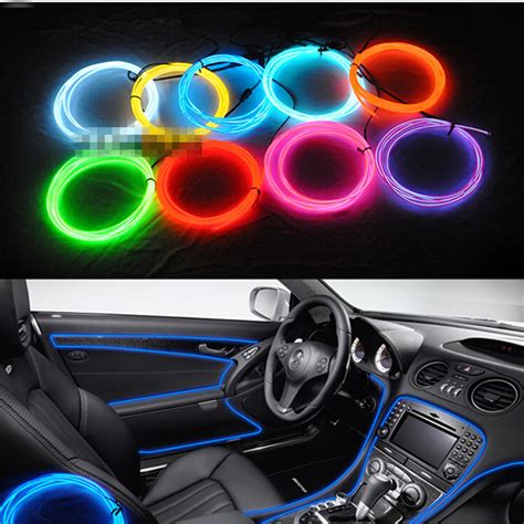 Lighting For Car Interior Aliexpress Buy 3m El Decorative Light Car