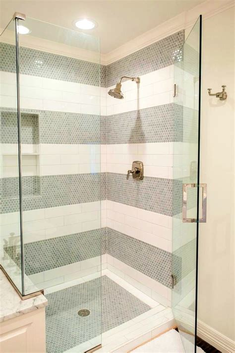 bathroom exciting ideas about white tile shower tiles subway surround cebeaeca wall with pebble