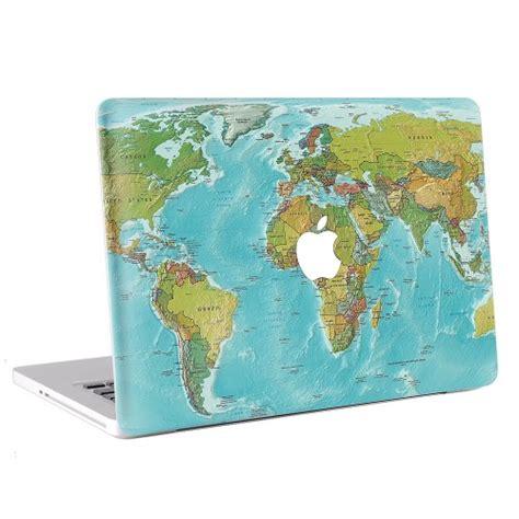 Macbook Pro 13 Skin Aufkleber by Weltkarte Macbook Skin Aufkleber