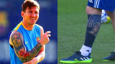 messi watch tattoo lionel messi s tattoos meanings youtube