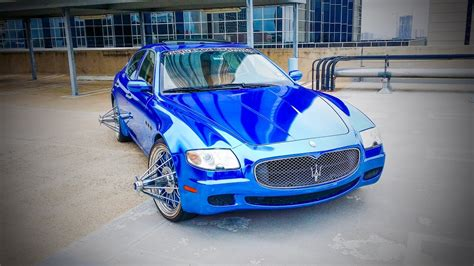 maserati swangas blue chrome maserati on swangas video shoots youtube