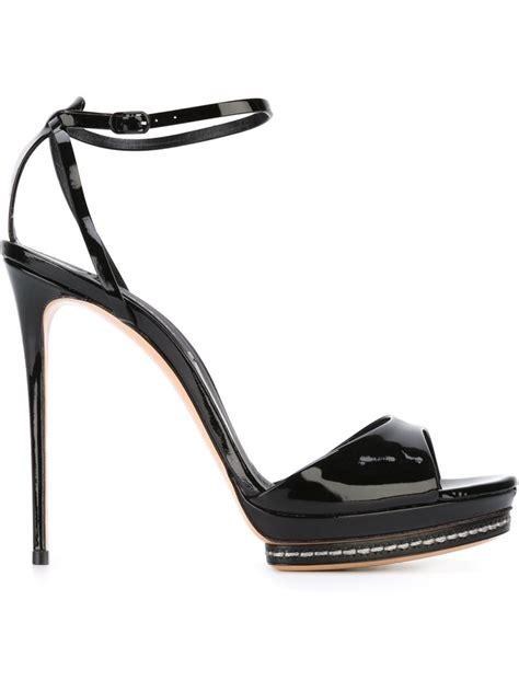 stiletto sandals casadei stiletto sandals in black lyst