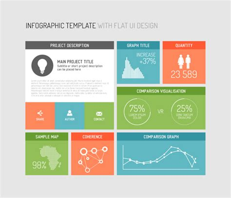 infographic template elements 02 vector business free
