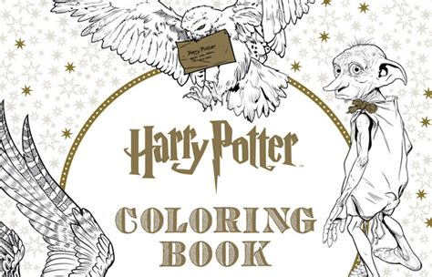 harry potter coloring book chapters time for relaxing with coloring books for the whole