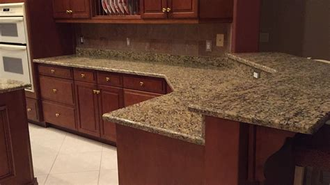 Kitchen Countertops And Backsplash Ideas santa cecilia granite countertops installation kitchen