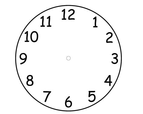 Clock Template by Printable Clock Template Pdf