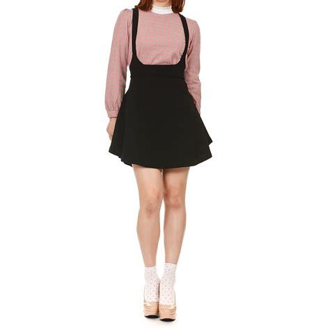 high waisted overall skirt dress
