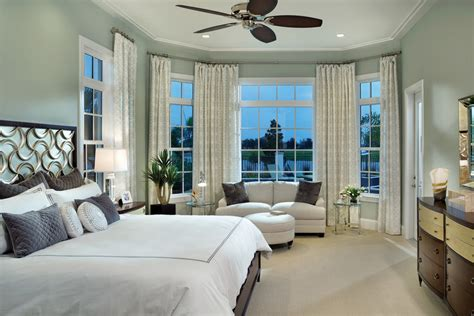 bay window bedroom ideas bedroom transitional with master