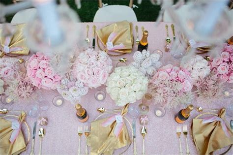 Pink And Gold Table Setting by Pink And Gold Table Setting Ideas