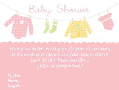 invitaciones para t de canastilla tarjetas para baby invitaciones para baby shower de una ni 241 a tarjetas para