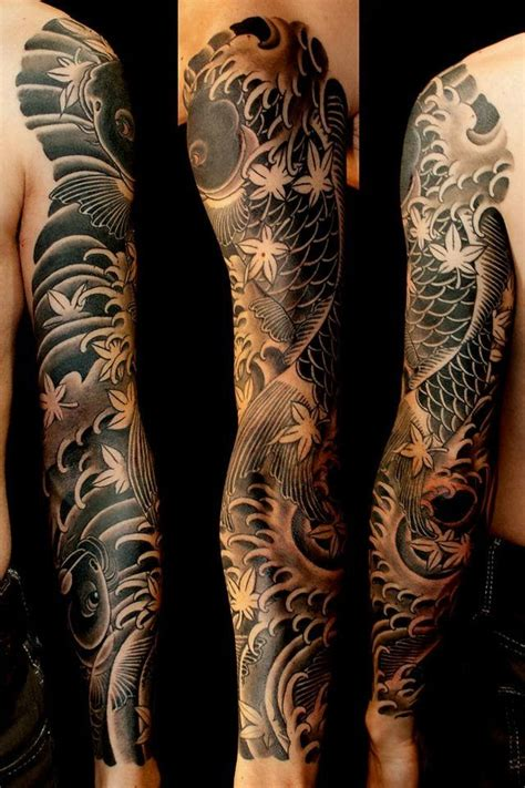 yakuza sleeve tattoo designs 25 best ideas about koi sleeve on koi