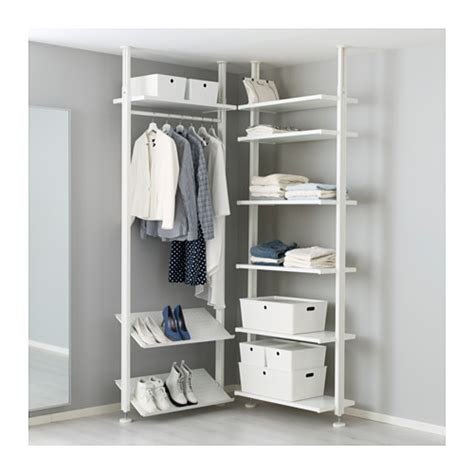open clothes storage system diy elvarli 2 section shelving unit ikea