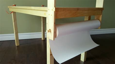 Craft Table Paper Roll - white children s craft table with attached paper