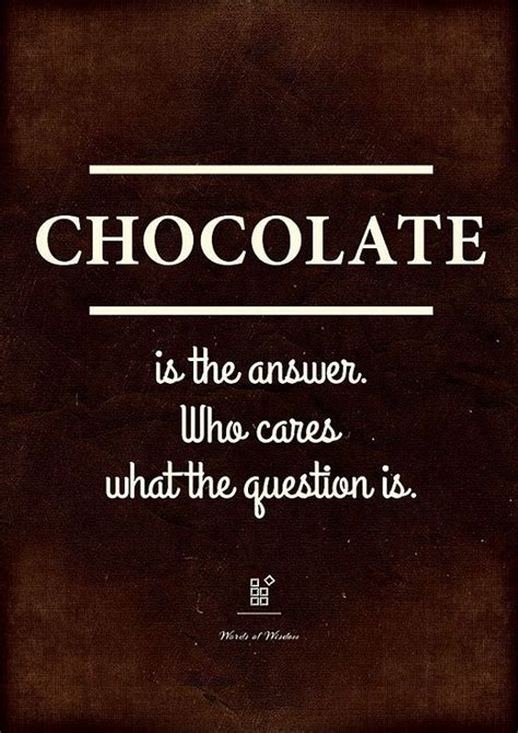 printable chocolate quotes chocolate is the answer funny quote print kitchen wall
