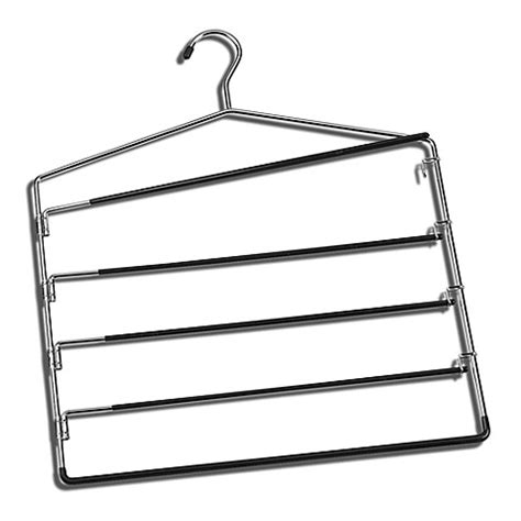 hangers bed bath and beyond chrome 5 tier swing arm trouser hanger bed bath beyond