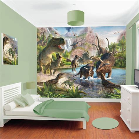 murals for bedrooms walltastic dinosaur wall mural 41745 children s wall murals
