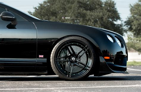 bentley blacked out black bentley continental gt3 r adv05r m v2 cs series