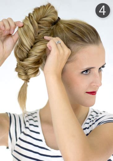 how to cut off a bun steps with images fishtail bun 183 how to style a braided bun 183 hair styling