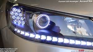 exledusa custom led headlight honda accord 9th