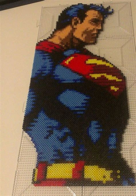 Superman Perler Perler And Cross Stitch