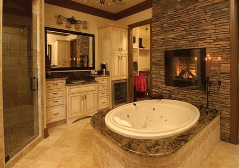 bathrooms designs 2013 51 mesmerizing master bathrooms with fireplaces
