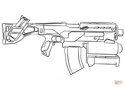 nerf gun coloring page free printable coloring pages