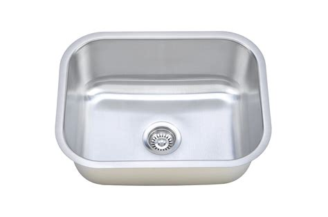 Kitchen Sink Stainless Steel 50c sinkware 16 single bowl undermount stainless steel kitchen sink cmu2318 9 16