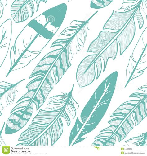 seamless pattern of bird feathers stock photos image