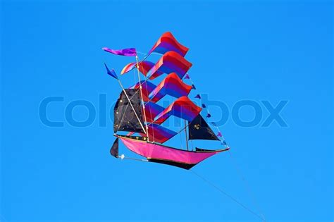 kite design indonesia traditional balinese kite the flying ship on the blue sky
