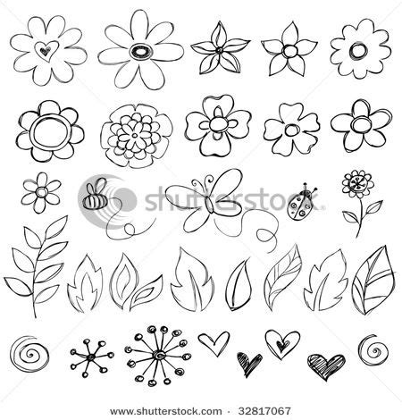 doodle drawing flowers dessins nature and fleur on