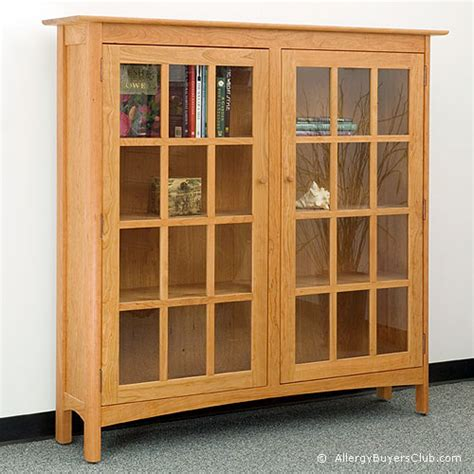 Solid Wood Bookcase With Glass Doors Solid Wood 2 Door Glass Bookcases Allergybuyersclub
