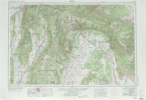 topographical map of utah price topographic maps ut usgs topo 39110a1 at 1