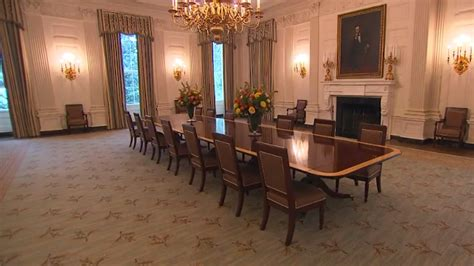 white house dining room white house unveils redecorated state dining room