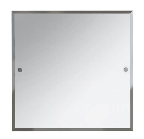 Bristan 600 X 600mm Square Bathroom Mirror Chrome And Square Bathroom Mirror