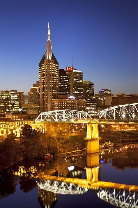 nashville tennessee twilight over nashville tennessee print nashville