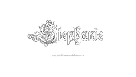 stephanie tattoo name designs