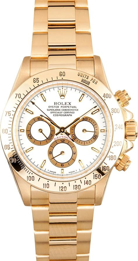 golden rolex 18k yellow gold rolex daytona white