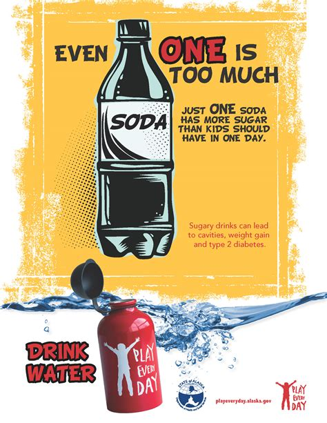 drinks for school new posters say even one soda a day is much play