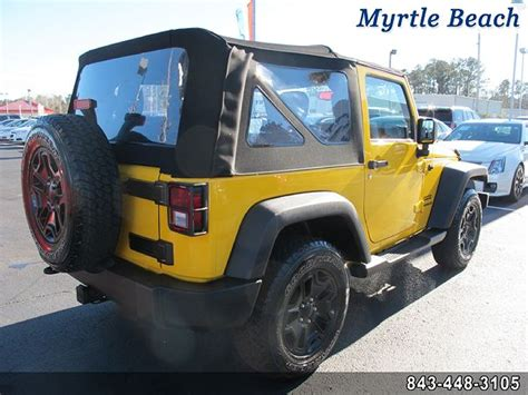 yellow jeep on beach yellow jeep wrangler in south carolina for sale used cars