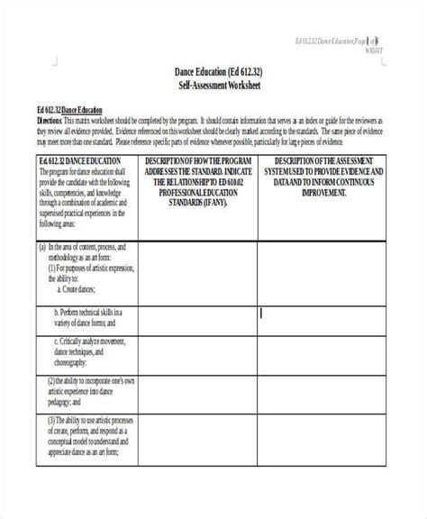 evaluation worksheet template 35 self assessment form templates pdf doc